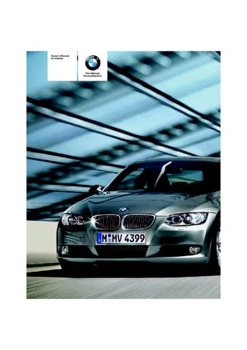 2007 bmw 328i owners manual download