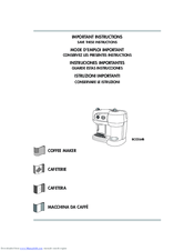 delonghi bco 130 user manual