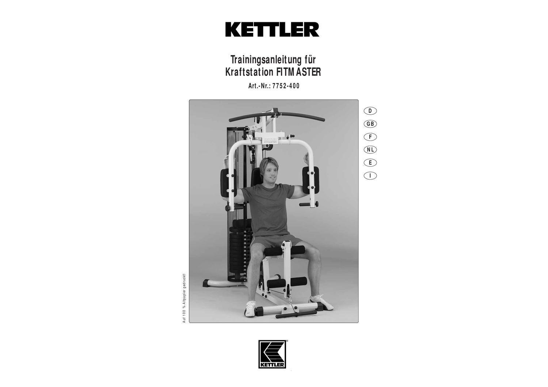 kettler verso 300 user manual