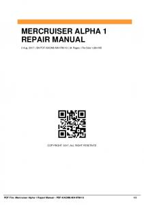 mercruiser alpha one service manual pdf