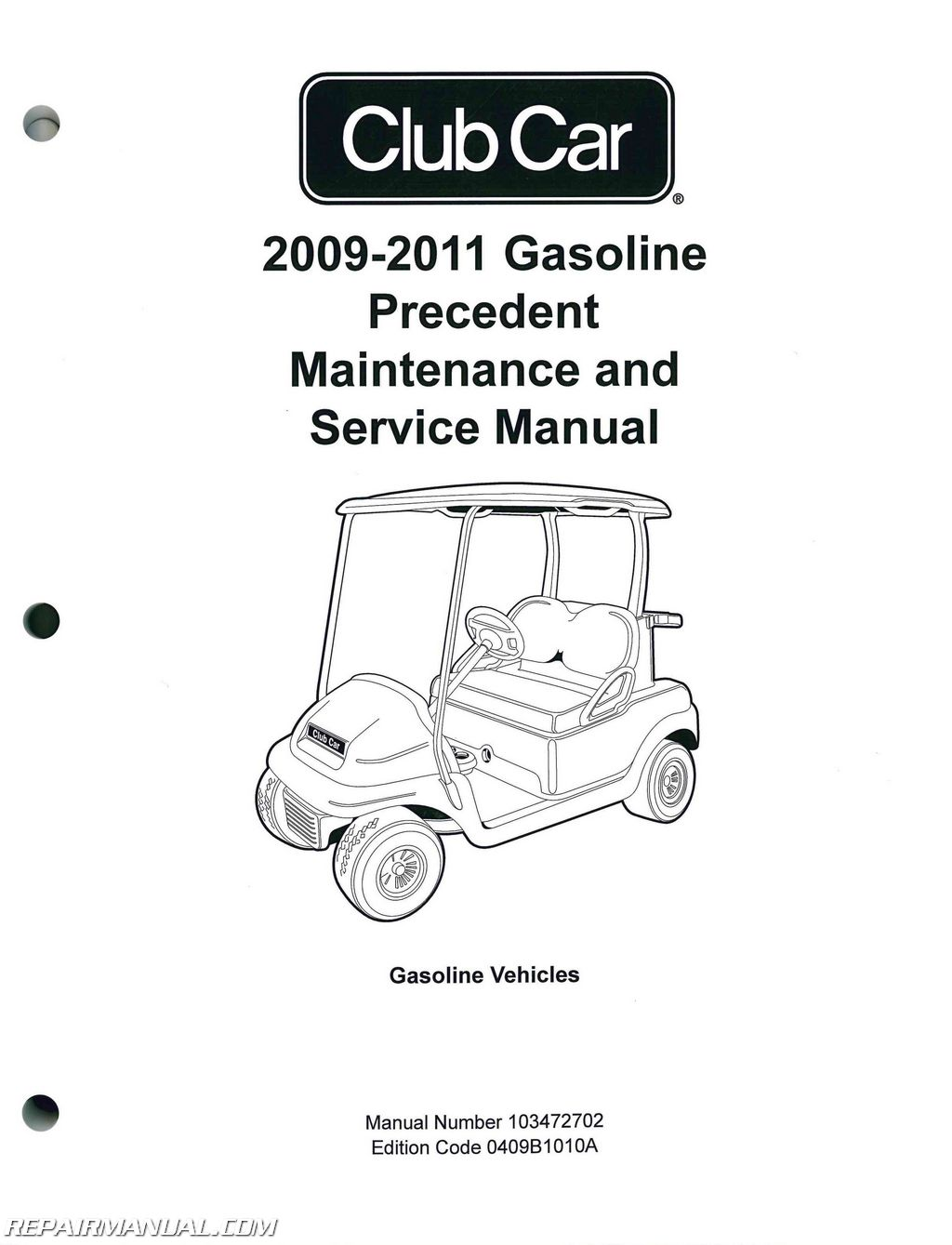 club car carry all 2 gasoline parts manual