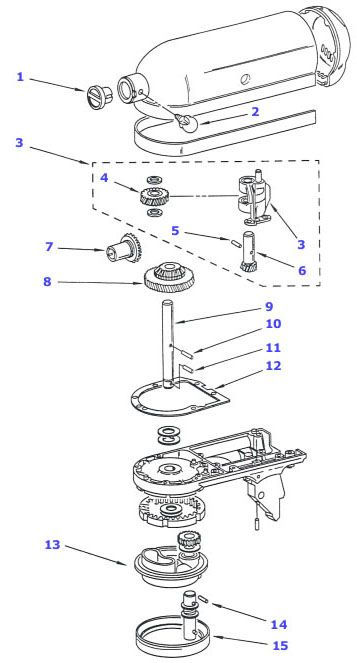 kitchenaid professional 600 service manual