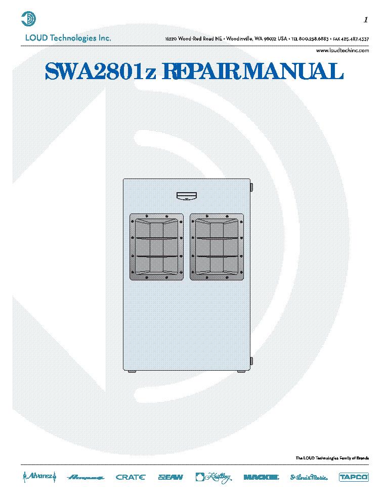 mackie srm 450 service manual pdf