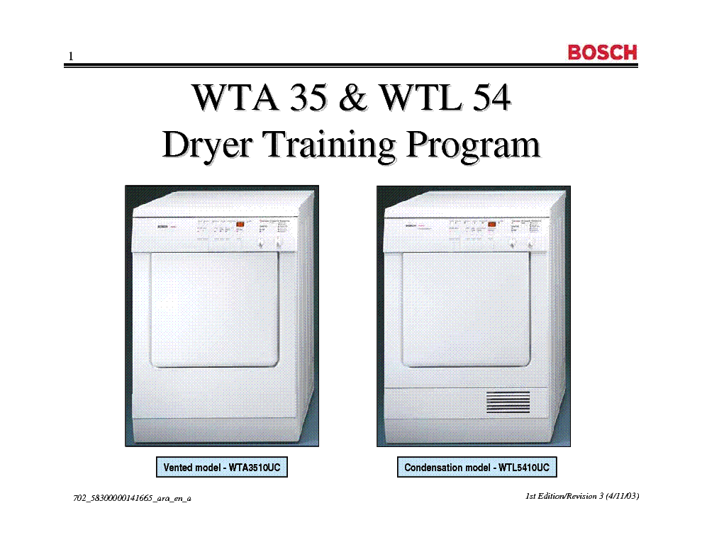 bosch wtl 5100 user manual