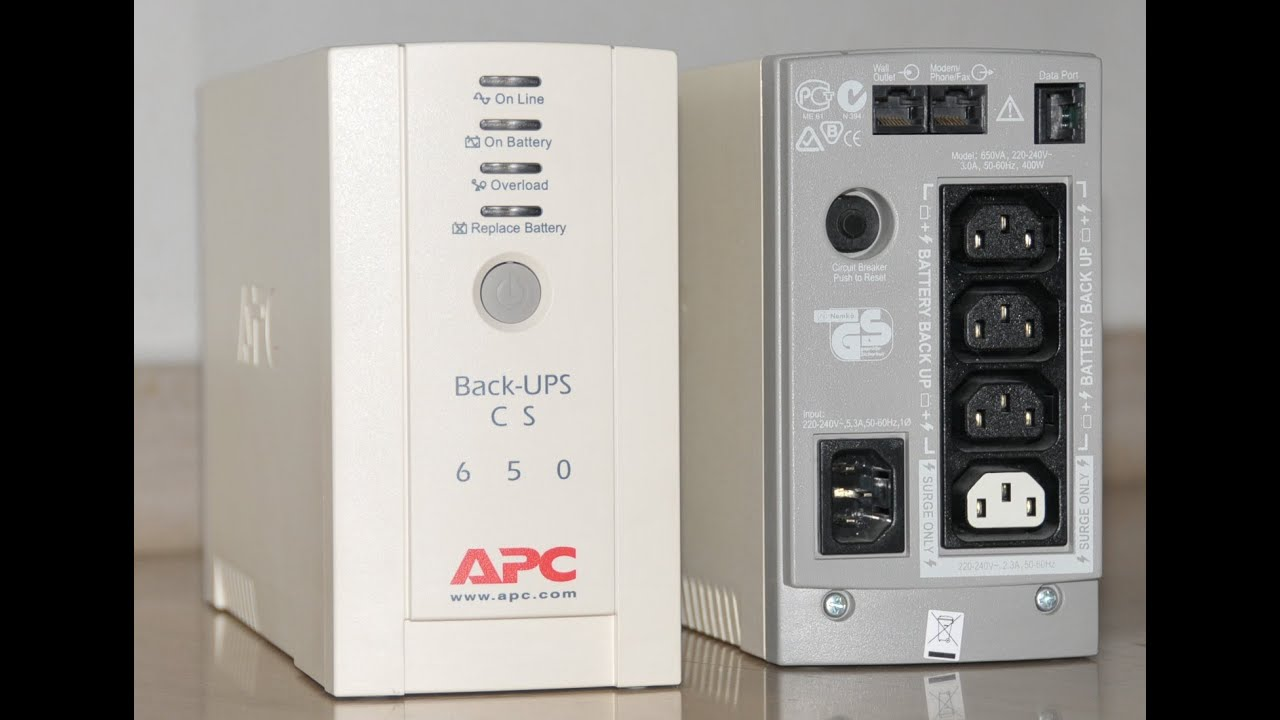 apc back ups cs 650 service manual