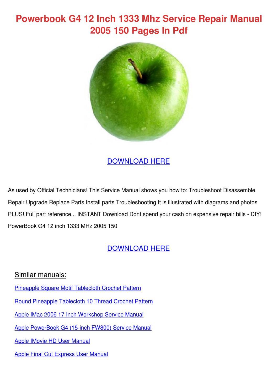apple ibook g4 user manual