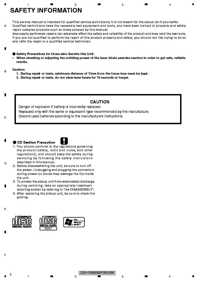 pioneer deh p6800mp user manual