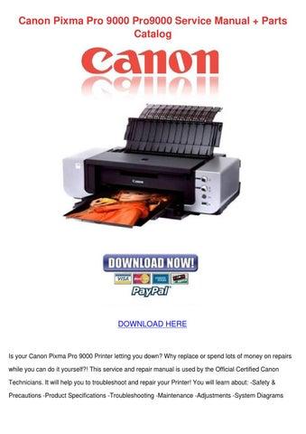 canon pro 9000 service manual