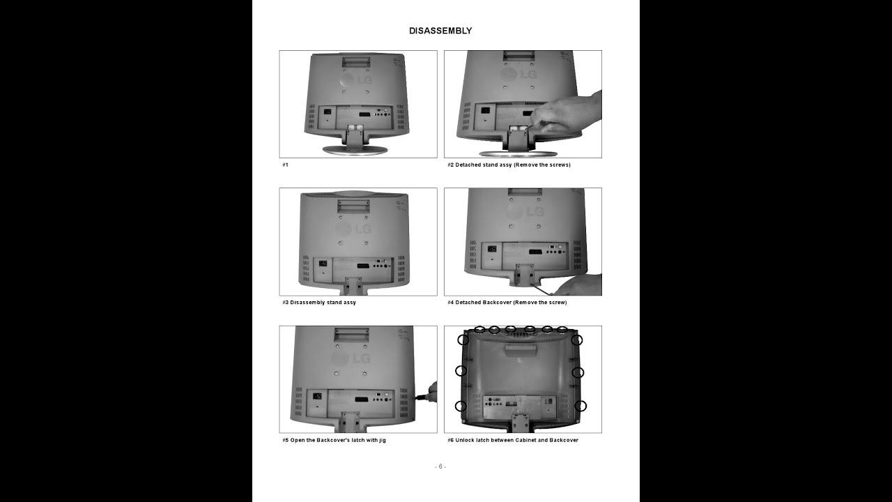 lg television repair manuals service manual