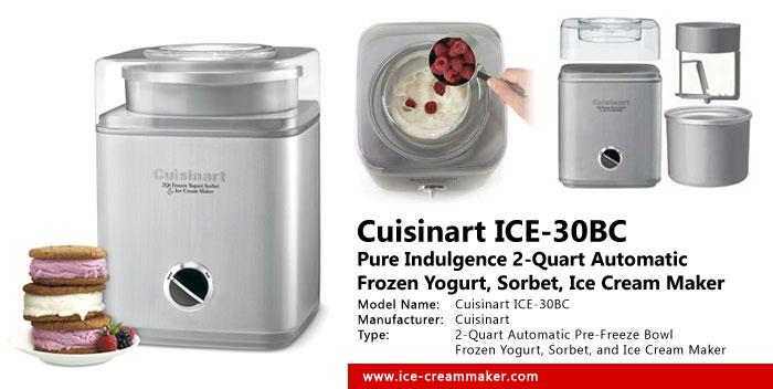 cuisinart ice cream maker manual 2 quart