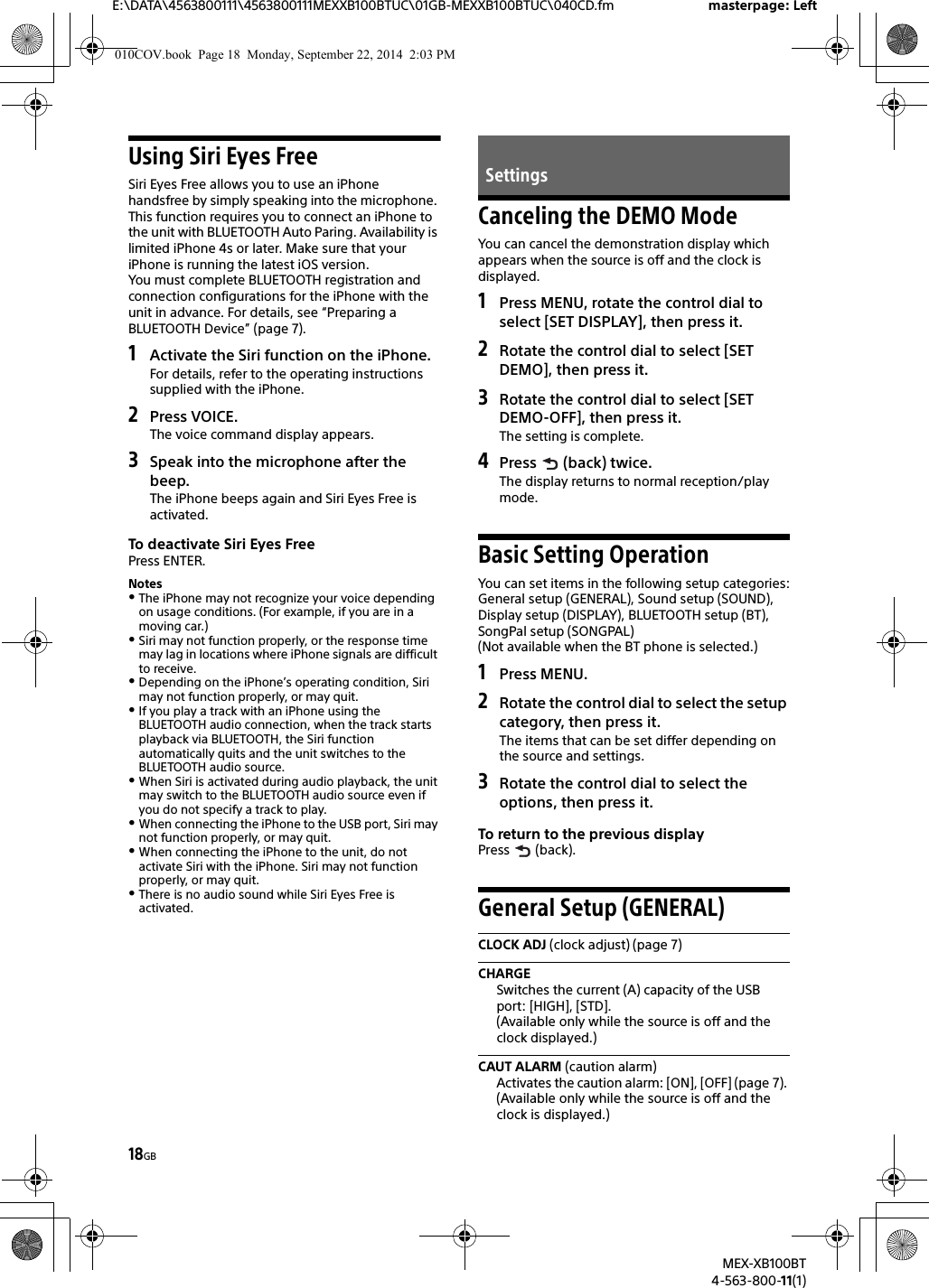 sony mex xb100bt user manual