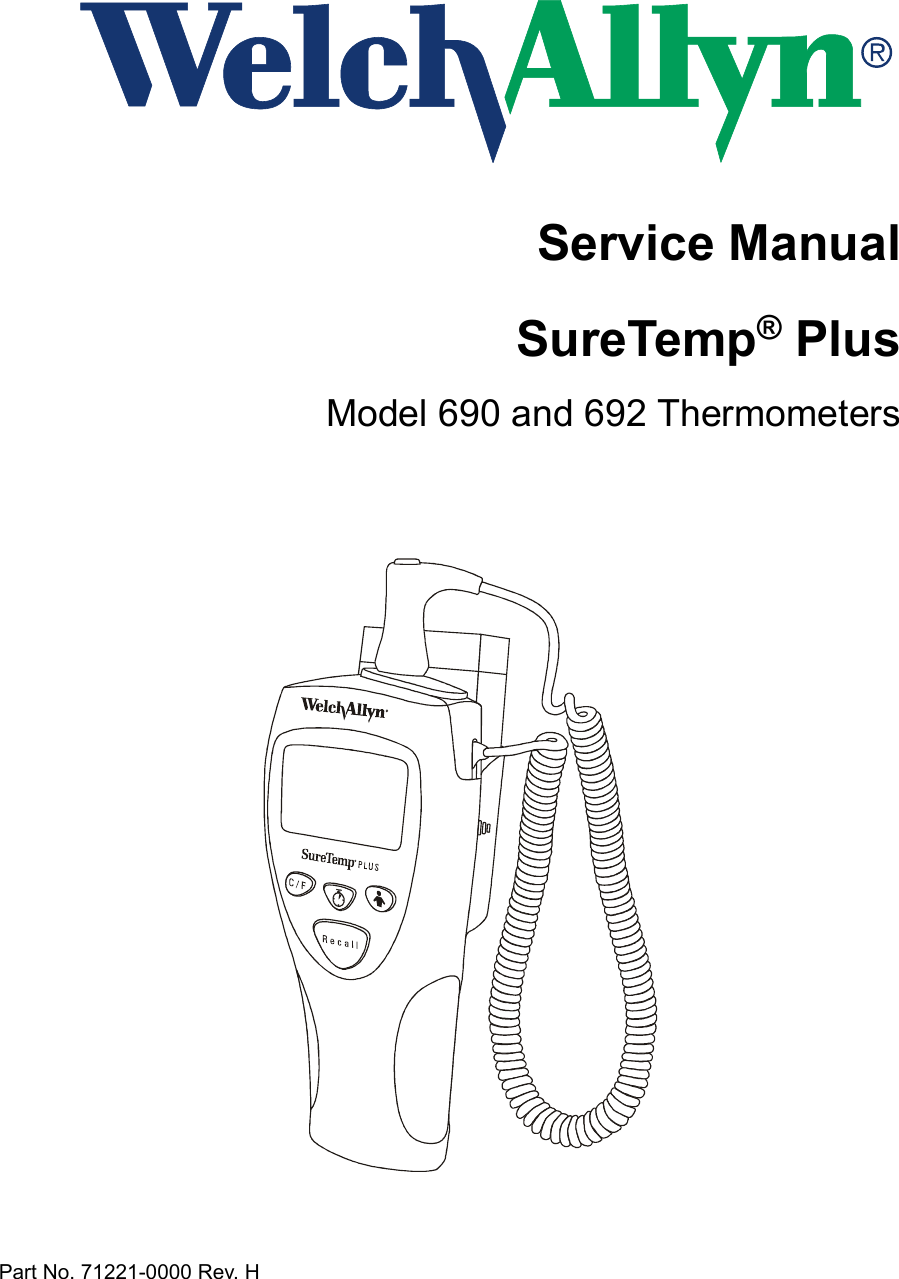 welch allyn 690 service manual