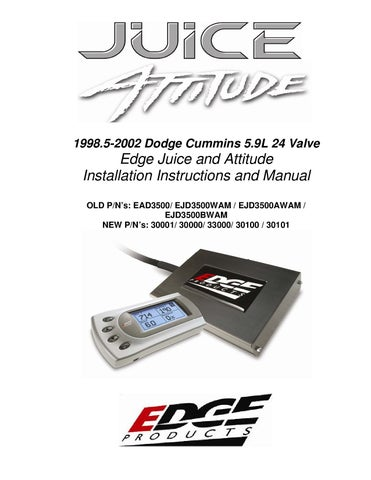 edge juice with attitude owners manual