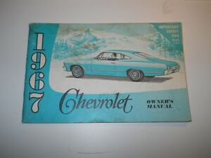 1967 chevrolet owners manual second edition december 1966
