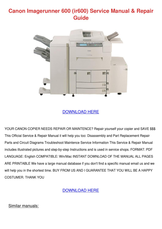 canon ir 7200 service manual pdf