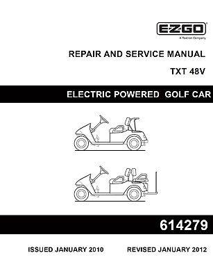 ez go golf cart repair service manual