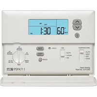 luxpro psp511lc 5 2 day deluxe programmable thermostat manual