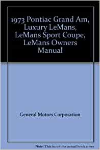 pontiac grand am owners manual