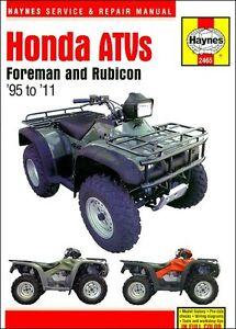 free honda foreman 400 service manual