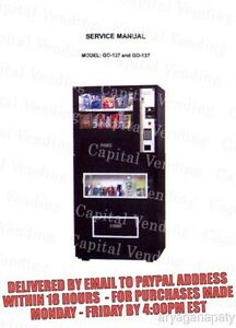 genesis go 127 137 combo vending machine service manual