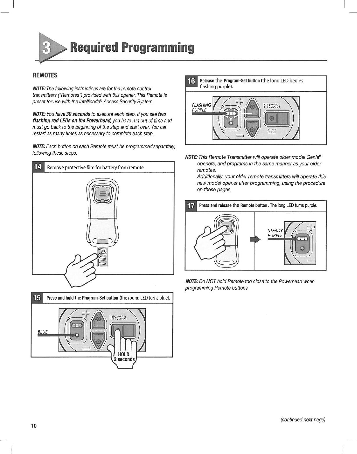 genie garage door opener user manual