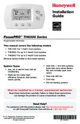 honeywell focuspro 6000 user manual