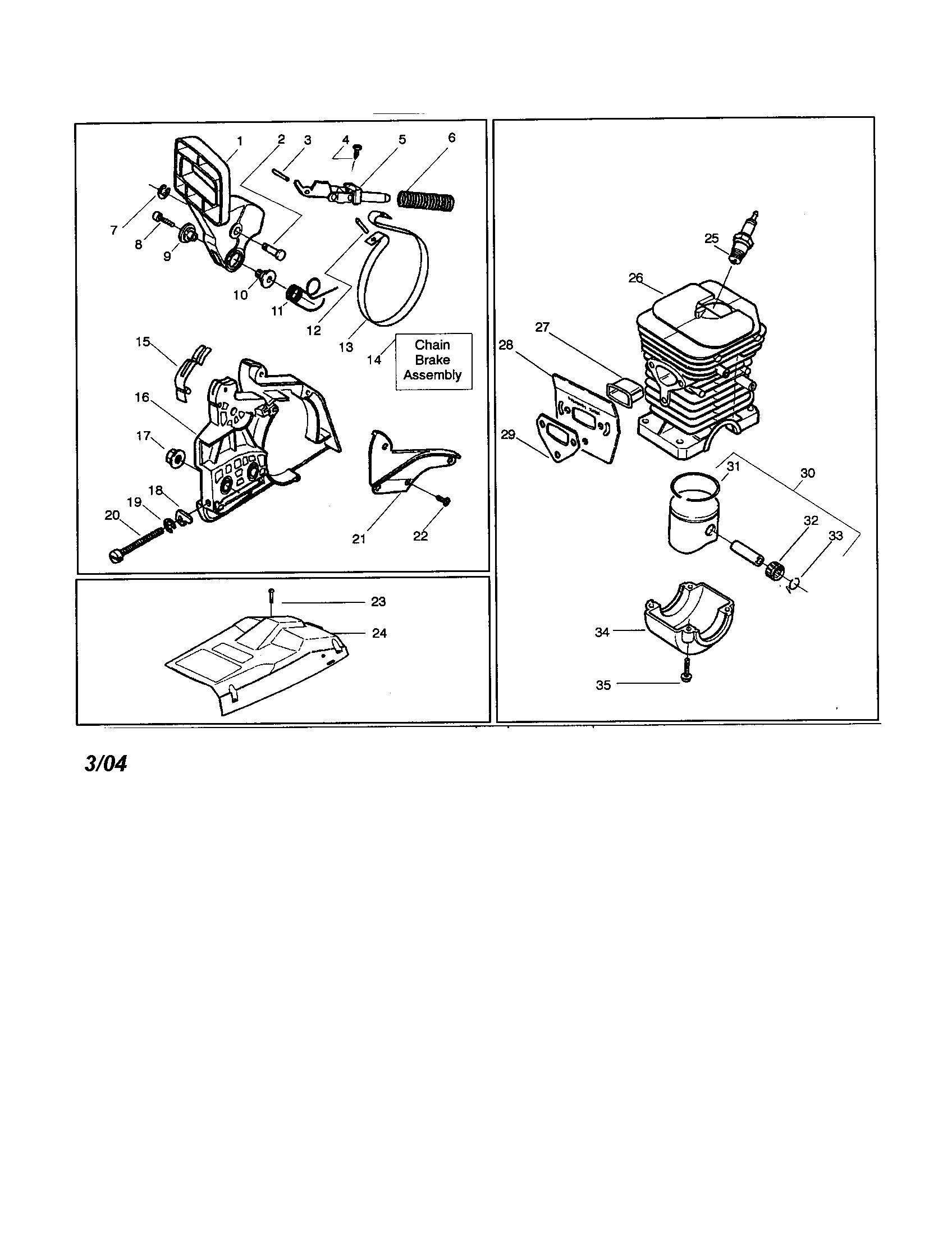 husqvarna 136 chainsaw service manual
