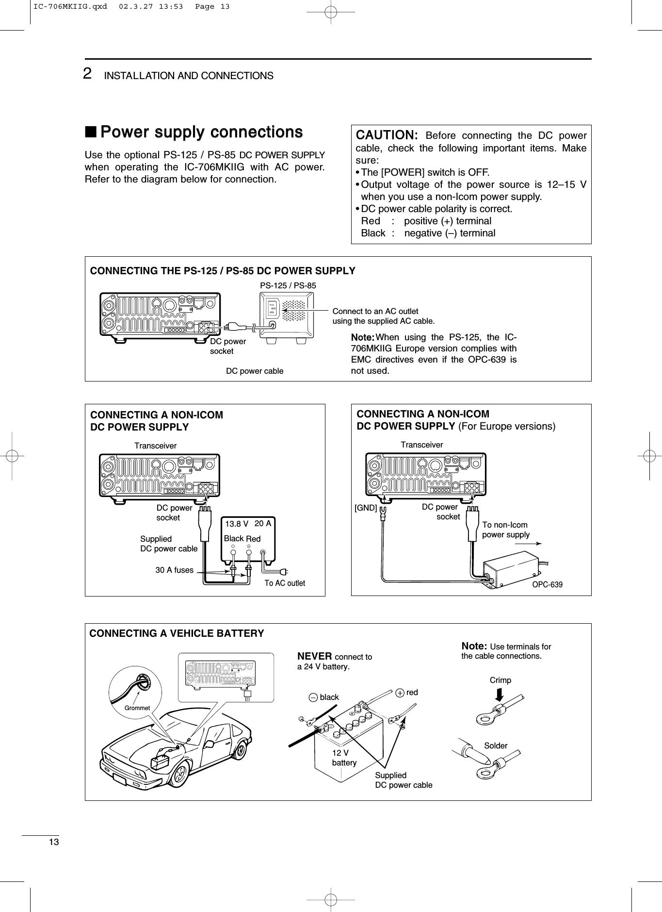 icom ic 2100h user manual