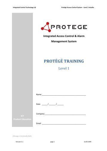 ict protege wx user manual