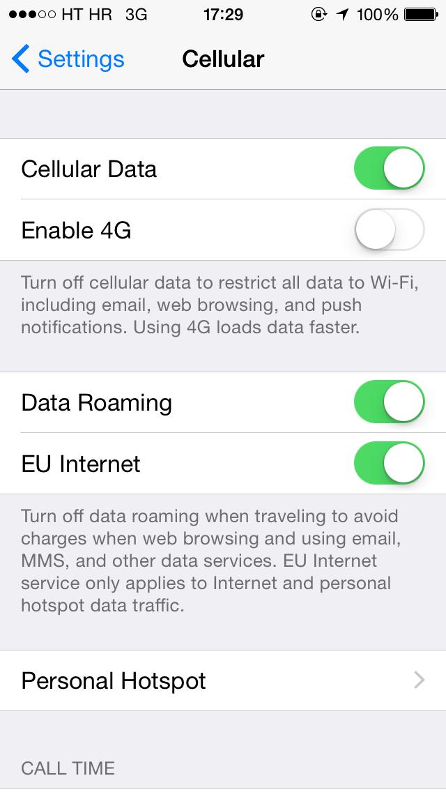 ipad 2 manual network selection