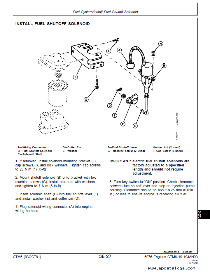 john deere 6076 service manual