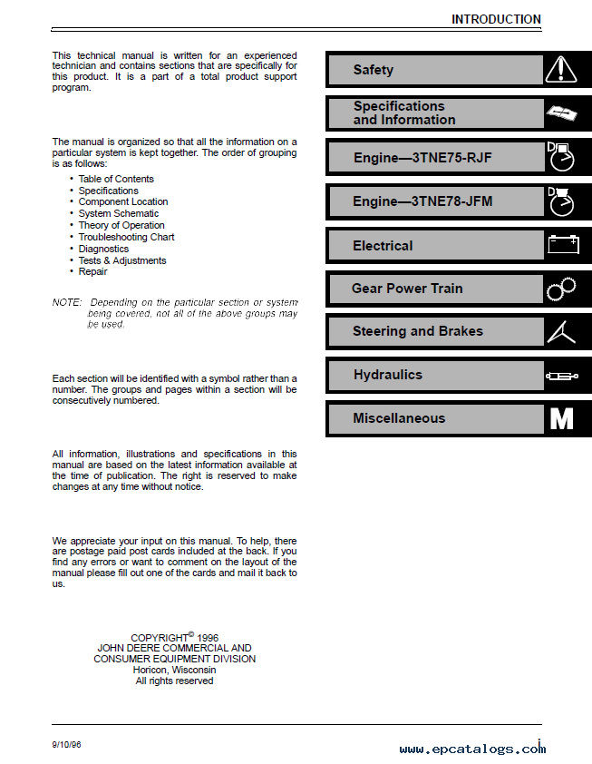 john deere f1145 service manual pdf