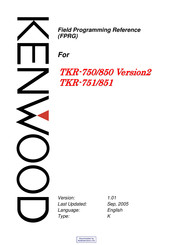 kenwood tkr 750 service manual