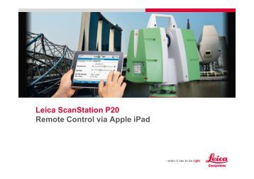 leica scanstation p20 user manual