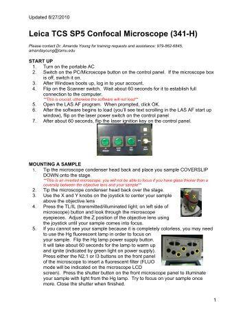 leica tcs sp5 user manual