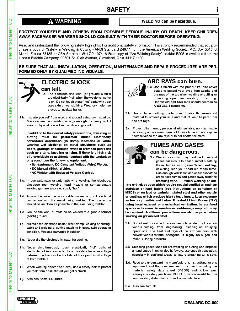 lincoln dc 600 service manual