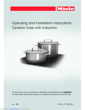 miele induction hob user manual