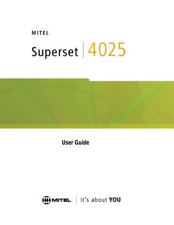 mitel 5212 ip phone user manual