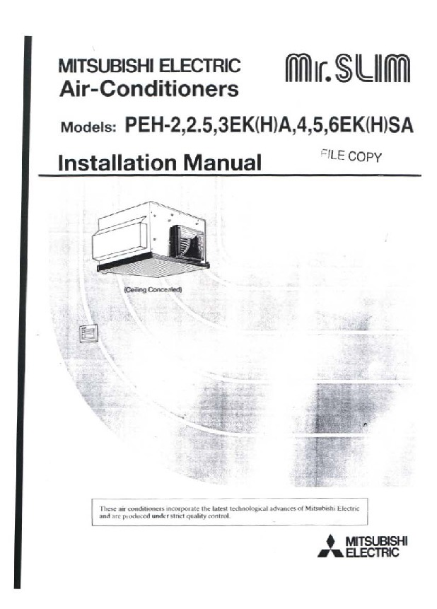 mitsubishi mr slim user manual