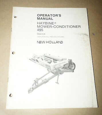 new holland 488 haybine owners manual
