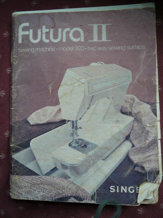 singer futura 2 model 920 manual